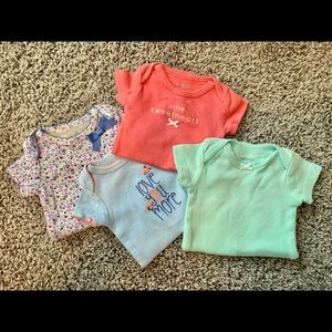 Carter's One Pieces - 4 Newborn Onesies